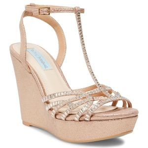 NEW Betsey Johnson Ember Wedge Heels